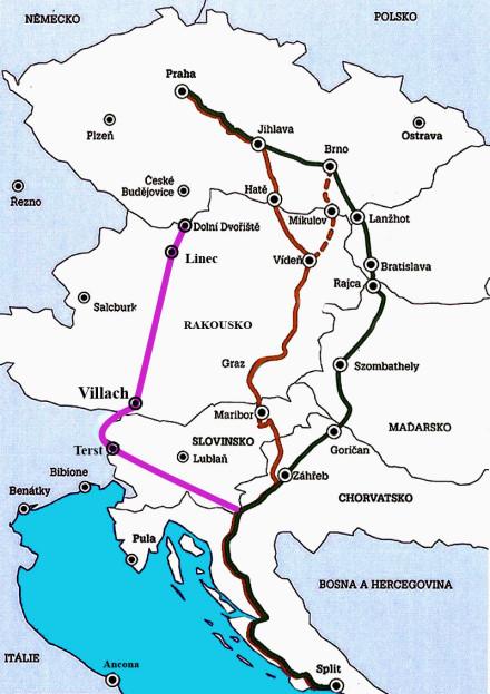 Trasy do Chorvatska - trasy